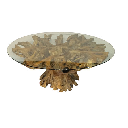 Root Round Saturday Kitchen Style Dining Table With 180cm Glass