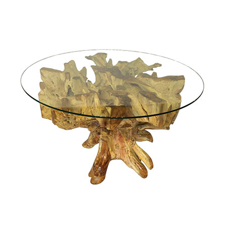 Root Spider Stone Dining Table Round With 150cm Glass