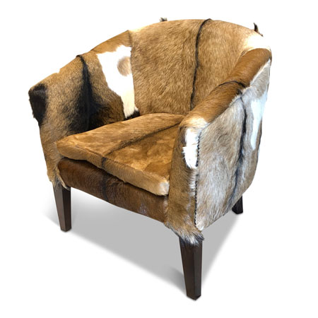 Buy root goat skin tub chair from Makasi Imports